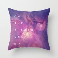 The Places You'll Go II Throw Pillow
