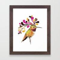 Humming Bird Hairstyle Framed Art Print