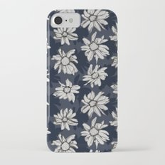 Black and Blue Flowers Slim Case iPhone 7