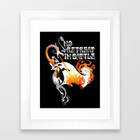 No Retreat in Battle Framed Art Print