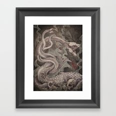 the Lernaean Hydra art print Framed Art Print