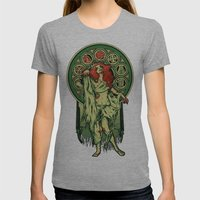 Zombie Nouveau Womens Fitted Tee Athletic Grey SMALL