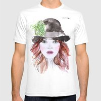 Emma Stone Mens Fitted Tee White SMALL