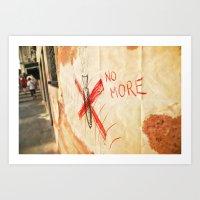 No More! _ Ban The Bomb! Art Print