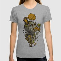 A Disorientated Duck Goes For A Stroll Womens Fitted Tee Athletic Grey SMALL