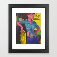Indie Cindy Framed Art Print