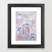 What Do You Feel Bitter About  Framed Art Print