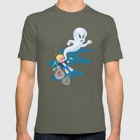 Where Do Friendly Ghosts… Mens Fitted Tee Lieutenant SMALL