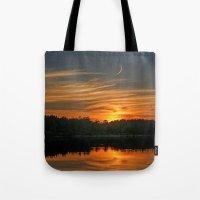 Sunset, Lake, Pine Fores… Tote Bag