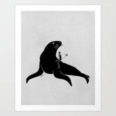Cold Wave Hunter Art Print