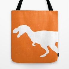 T-rex Orange Dinosaur Tote Bag