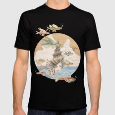 Sea dream Black Mens Fitted Tee SMALL