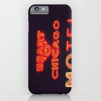 iPhone & iPod Case featuring Heart 'O' Chicago Motel (Night) ~ vintage neon sign by helene smith photography