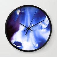 Liquid Blue Wall Clock