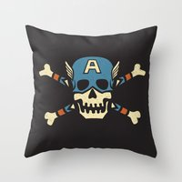 Captain 'Jolly' Rogers  Throw Pillow