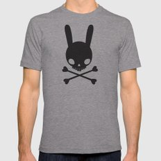 SKULL BUNNY OF PIRATES Mens Fitted Tee Athletic Grey SMALL