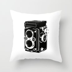 Analog power Throw Pillow