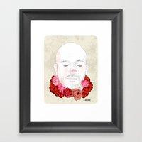 Flowered Framed Art Print