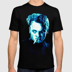 James Cagney, blue Madness. SMALL Mens Fitted Tee Black