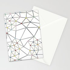 Seg with Color Spots White Stationery Cards