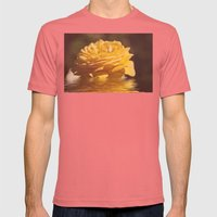 Yellow Rose Flood Mens Fitted Tee Pomegranate SMALL