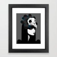 dark bird (lady bird) Framed Art Print