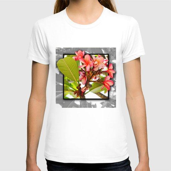 Pink Frangipani  T-shirt