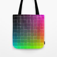 Rainbow Squares Tote Bag