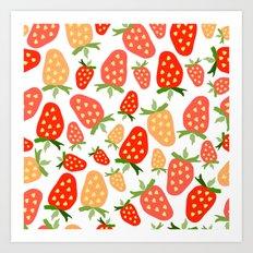 Sweet strawberry life. Art Print