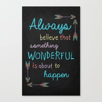 Always Believe 01 Canvas Print
