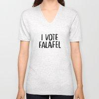 I Vote Falafel Unisex V-Neck