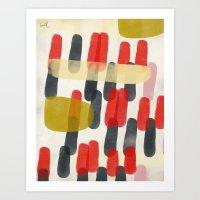 Descending Pill Pattern Art Print
