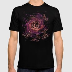 cosmic butterfly Mens Fitted Tee SMALL Black