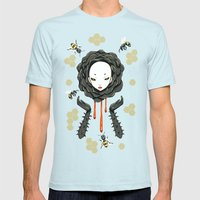 Honey Mens Fitted Tee Light Blue SMALL