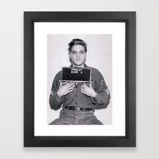 Elvis Presley Mugshot Framed Art Print