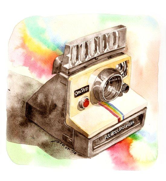 Vintage gadget series: Polaroid SX-70 OneStep camera Canvas Print