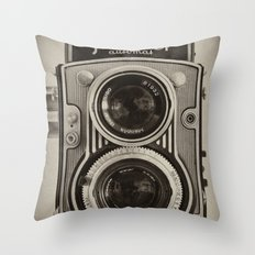 Flexaret | Vintage Camera Throw Pillow