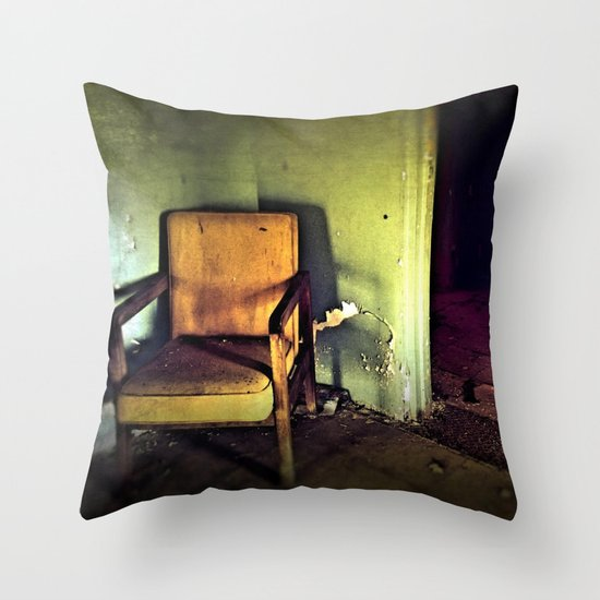 Where They Sat.... Throw Pillow