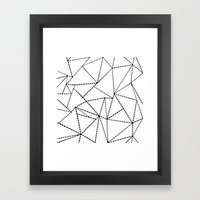 Abstract Dotted Lines Bl… Framed Art Print