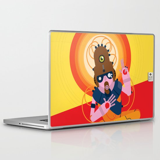 The inscrutable Lord ov Data Laptop & iPad Skin