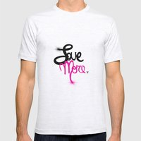 Love More Mens Fitted Tee Ash Grey SMALL