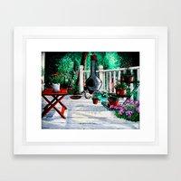 Back Porch Garden Framed Art Print