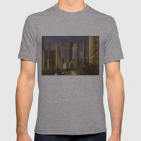 Cityscape Mens Fitted Tee Athletic Grey SMALL