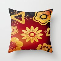Mi Flor Throw Pillow