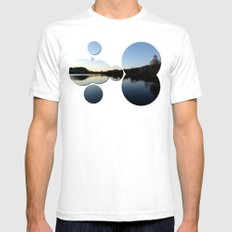 Indian summer sunset at the fishing lake IV | waterscape photography Mens Fitted Tee White SMALL