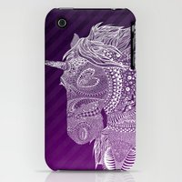 iPhone 3Gs & iPhone 3G Cases featuring Unicorn by Ana Morales