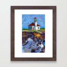 Cape Arago Lighthouse Framed Art Print