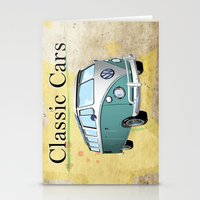 Classic Cars 2 Stationery Cards