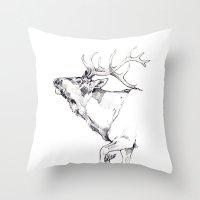 Elk's Whisper Throw Pillow