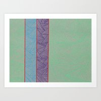 3 Red Lines  Art Print